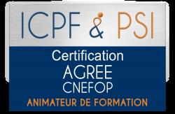 Logo ICPF & PSI Agree CNEFOP Animateur de Formation