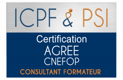 Logo ICPF & PSI Agree CNEFOP Consultant Formateur